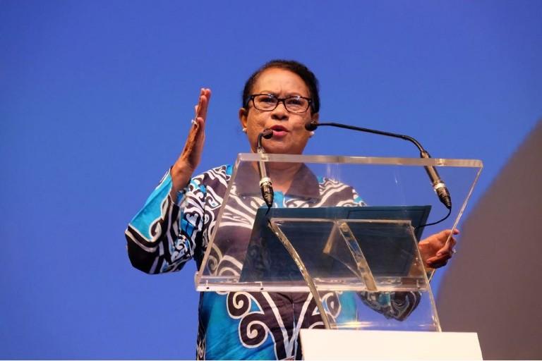 Menteri Yohana Yembise : Kekerasan Bukan Penyelesaian Dari Tindak Kriminal