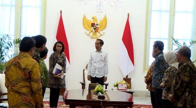 Terima 9 Pansel Calon Pimpinan KPK, Presiden Jokowi Upaya Tumpas Korupsi