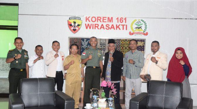Silaturahmi Pengurus Muhammadiyah NTT ke Korem 161/Wira Sakti