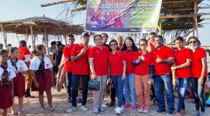 Edukasi Literasi ala FKIP UPG 45 NTT Bagi Anak SD dalam Festival Li Ngae