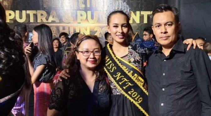 Nadia Riwu Kaho Gapai Miss NTT 2019