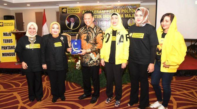 Bamsoet: 'Jangan Kesampingkan Peran Perempuan dalam Partai Politik!'
