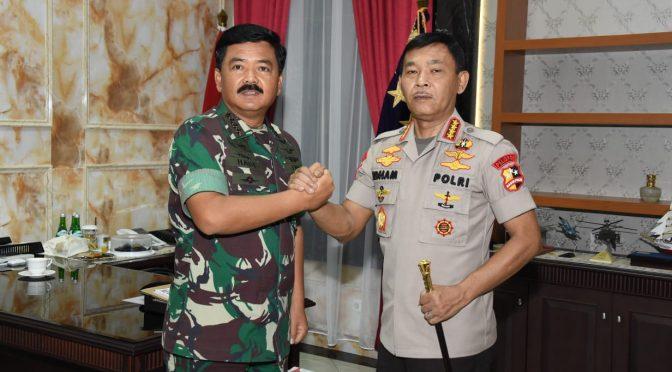 Panglima TNI Terima Kunjungan Kapolri Idham Azis