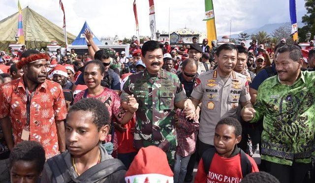 Panglima TNI : TNI dan Polri Selalu Hadir Di tengah Masyarakat