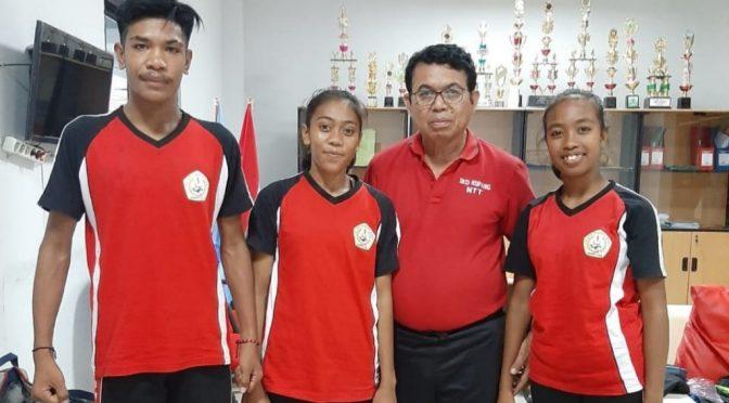Perdana! SKO Flobamorata Kupang Kirim Tiga Pelajar Ikut Pelatnas PB PASI