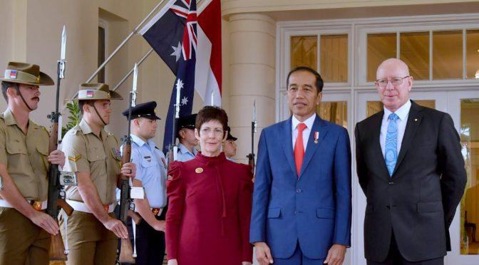 Presiden Jokowi Disambut Upacara Kenegaraan di Canberra Australia