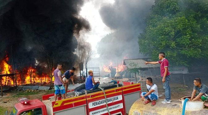 Agen Premium dan Minyak Solar di Kabupaten Sabu Raijua Terbakar