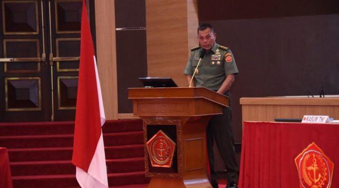 Kasum TNI Buka Rakor Bidang Operasi 2020, Upaya Capai Tugas Pokok TNI