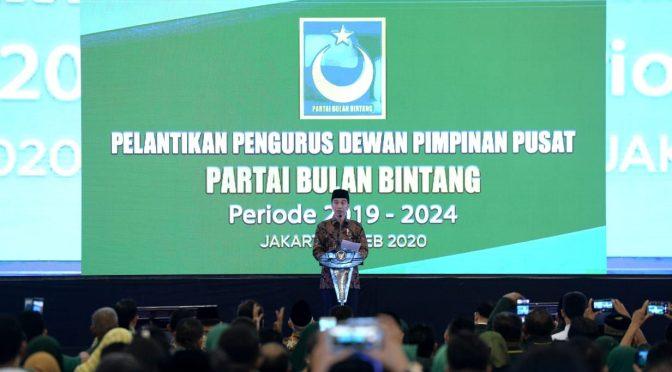 Hadiri Pelantikan DPP PBB, Presiden Jokowi Tekankan Pentingnya Merajut Ukhuwah