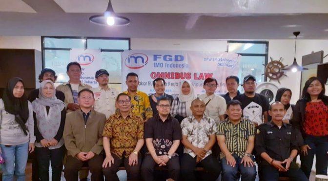 IMO-Indonesia : 'RUU Cipta Kerja Omnibus Law', Jadi Momentum Masukan Lintas Sektor