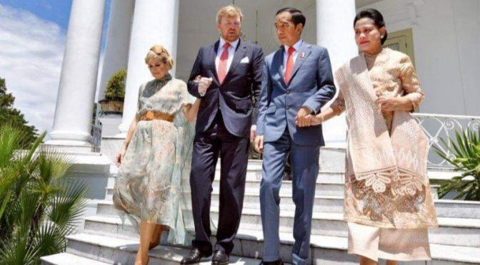 Raja dan Ratu Belanda Disambut Presiden Jokowi dan Ibu Iriana di Istana Bogor