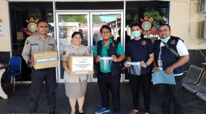 Aksi Peduli Petugas Medis Hadapi Covid-19 ala Rotary Club Kupang Central