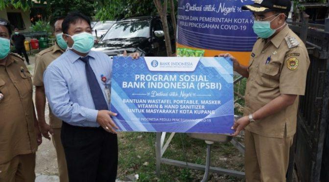 Pemkot Kupang Terima Bantuan Material Cegah Covid-19 dari BI Perwakilan NTT