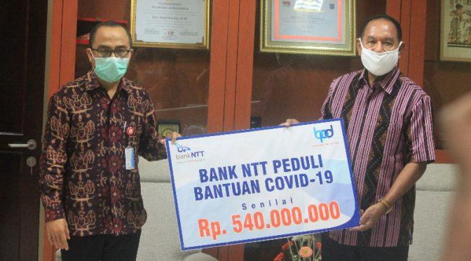 Bank NTT Hibah Dana Covid-19 Rp.540 Juta Kepada Pemprov NTT
