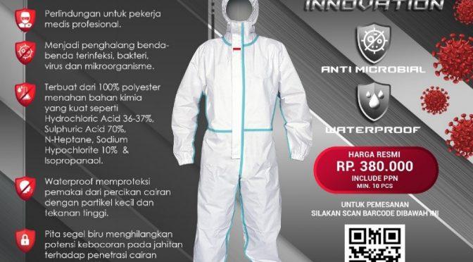 Baju APD Buatan Indonesia Lolos 'ISO 16604 Class 3'